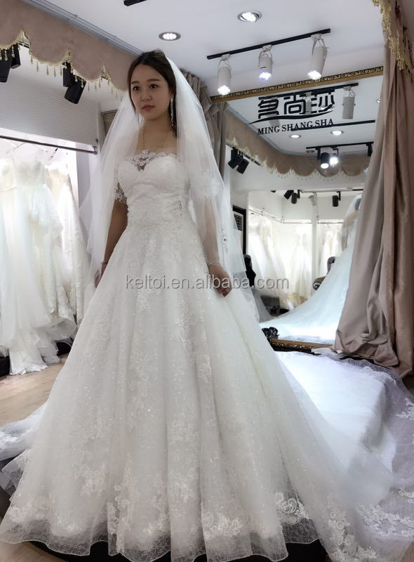 Taiwan Wedding Dress Manufacture White Bridal Gown