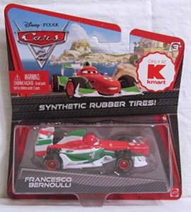 Disney / Pixar CARS 2 Movie Exclusive 1:55 Scale Die Cast Car with Synthetic Rubber Tires Francesco Bernoulli K-Mart Days of Disney Cars
