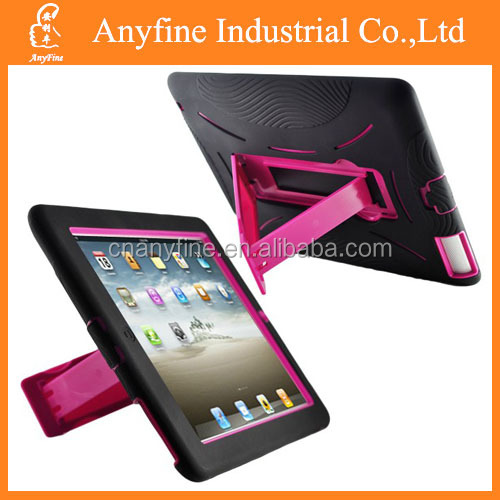 3 in 1 Hybrid robot kickstand case for ipad 2&3&4