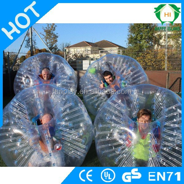 HI NEW 0.8mmPVC /TPU giant hamster ball with cotton straps,inflatable bumper soccer bubble