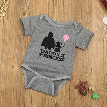 MUQGEW Baby Meisjes Brief Print Daddy <span class=keywords><strong>Prinses</strong></span> <span class=keywords><strong>T-shirt</strong></span> Tops Pasgeboren Baby <span class=keywords><strong>t-shirt</strong></span>/bodysuit baby meisje korte mouw shirts