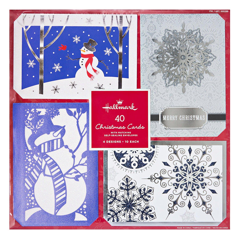 Buy Hallmark 40 Christmas Holiday Cards with Matching Self Sealing ...