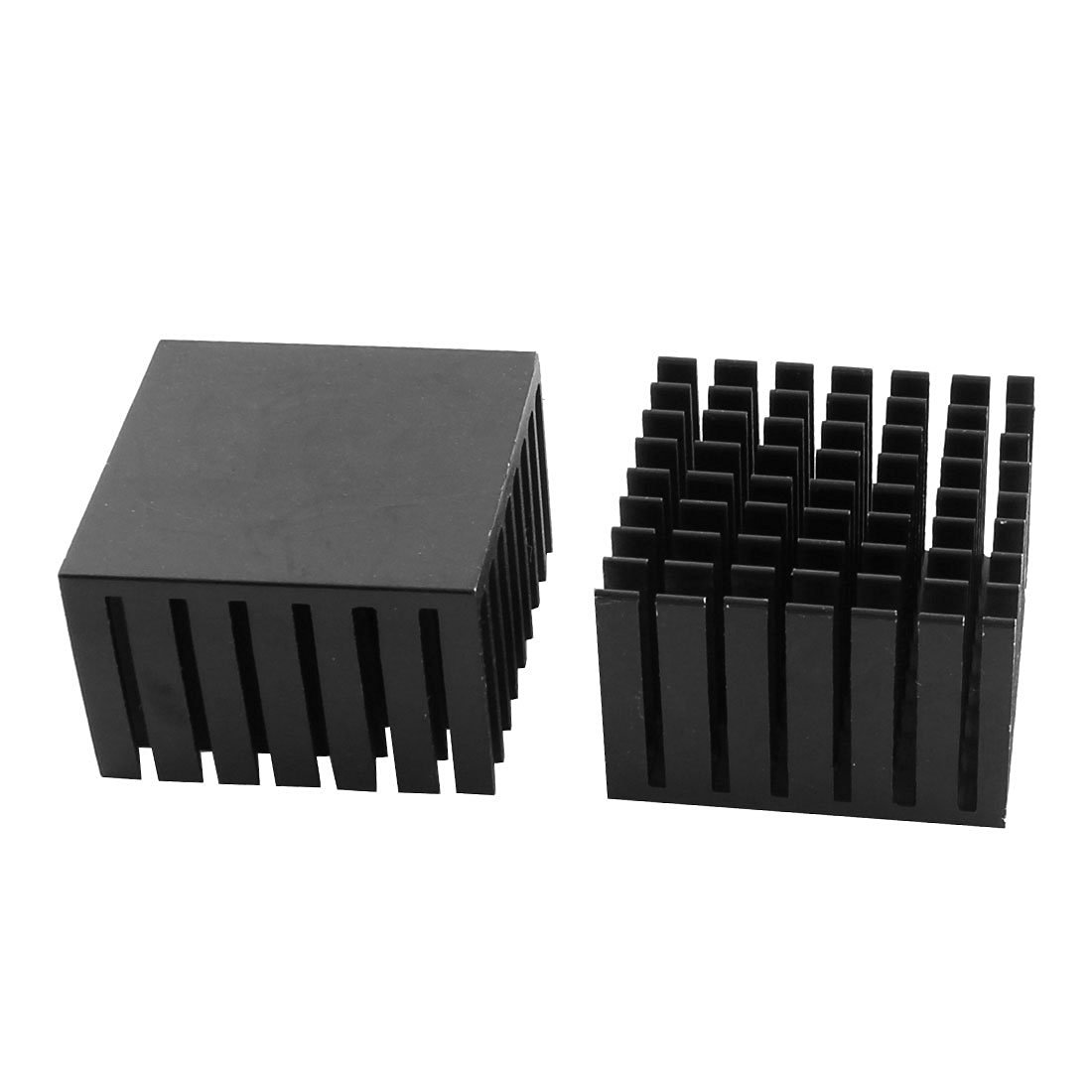 uxcell 8Pcs 25mm x 25mm x 10mm Aluminum Heatsink Heat Diffuse Cooling Fin Silver Tone