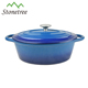 Hot Sale Blue Enamel Thermal Oval Cast Iron Casserole Dish
