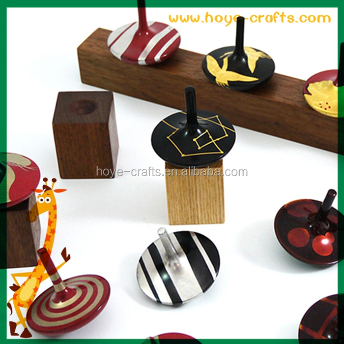 novelty strip wood spinning top