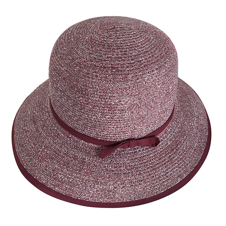 49e6a46a Get Quotations · Zhhyltt Summer Ladies Sun Hats For Women Beach Hat Sun  Block Hat Wide Brim Shapable Foldable