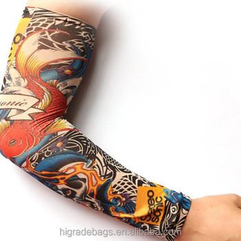 Custom Protection Nylon sports printed tattoo arm cool sleeves, View ...