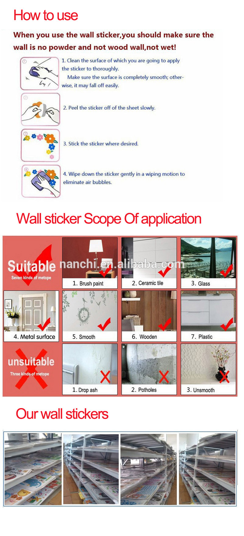 Baby elephant receiving mail pvc cartoon wall sticker new design custom sticker sheet removable waterproof sticker paper