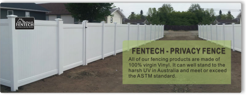 6x8 Ft Flat Top White Pvc Vinyl Plastic Privacy Fence