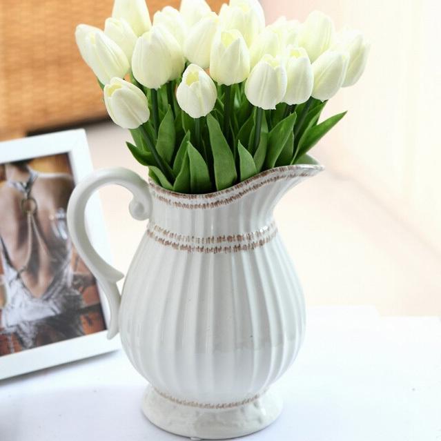 Flower Arranging Accessories Plastic Artificial Tulips