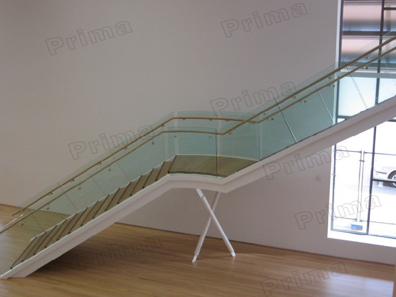 Classic Straight Staircase/modern Design Steel Structure Timber Staircase