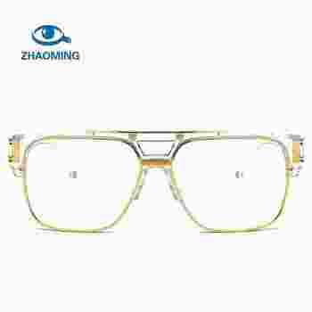 f1518157bff Square Semi Rimless Eyeglasses Men Fashion Fake Glasses Frame Male Clear  Optical Eyeglass Frames Optical Eyewear