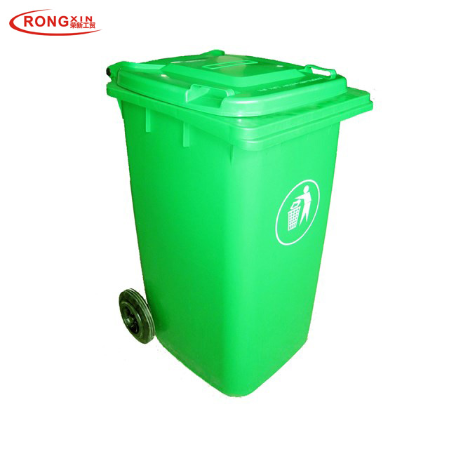 240L Open Top Mobile Plastic Waste Bin