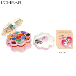 LCHEAR brand OEM beauty waterproof beauty cosmetic Professional fashion flower shape makeup kit