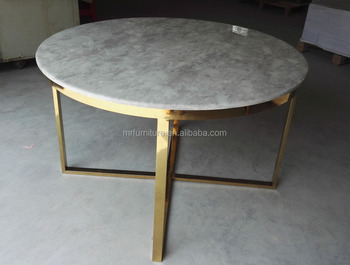 Brush Gold Stainless Steel Coffee Table