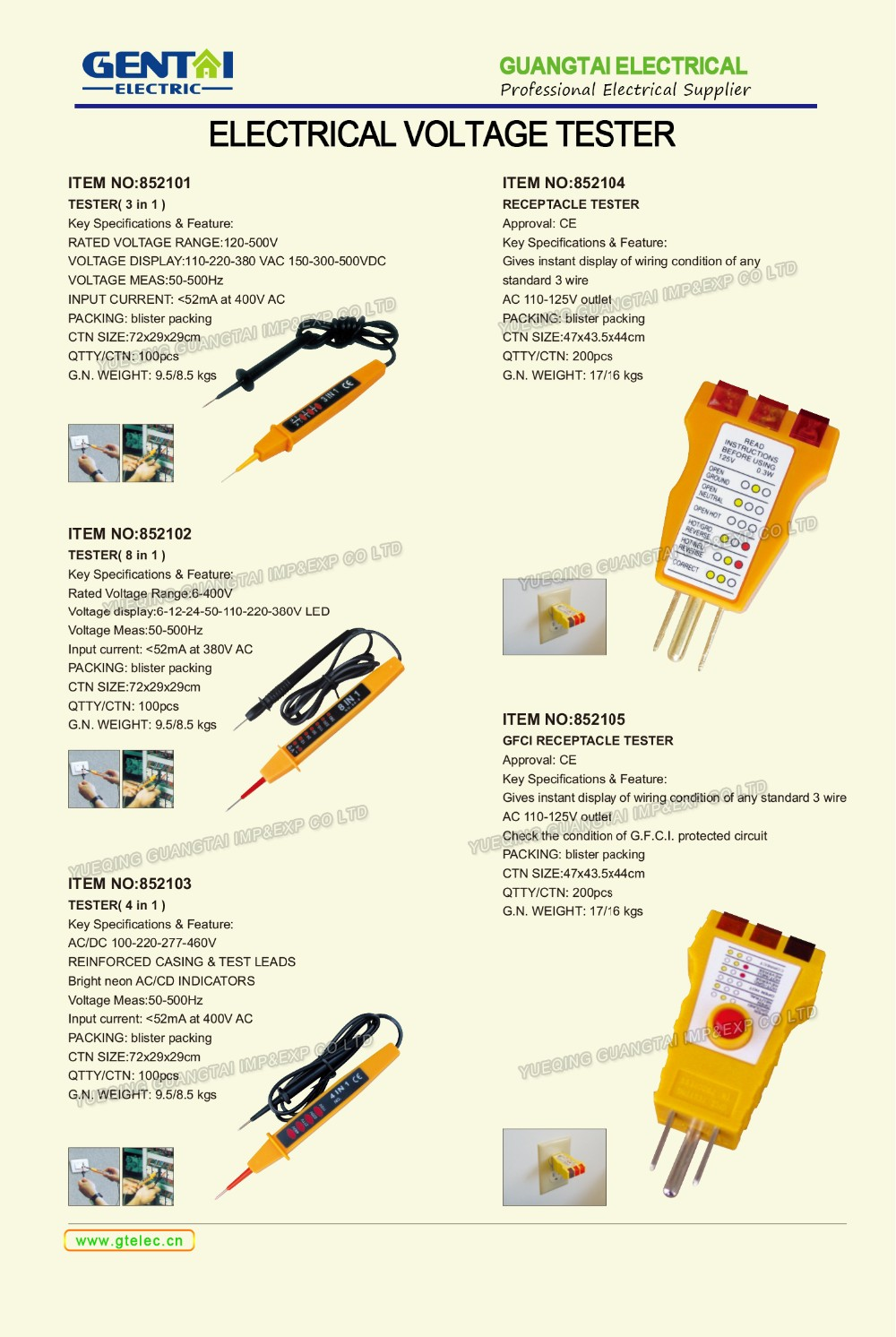 Circuit Tester For Testing Acdc Electric Circuits Detects Presence