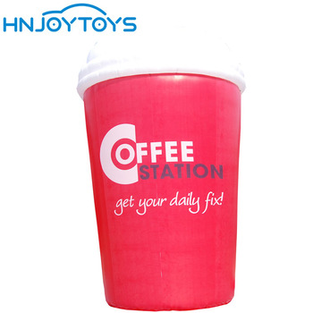 Customized Advertising Decoration Inflatable Coffee Cup inflatable Bear Cup