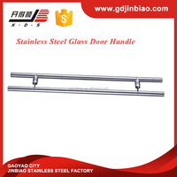 door shiny pull handles Stainless steel glass shiny pull handles