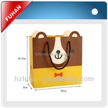 2017 factory promotional art paper offset printing technics shopping bag for garment/shoes/food