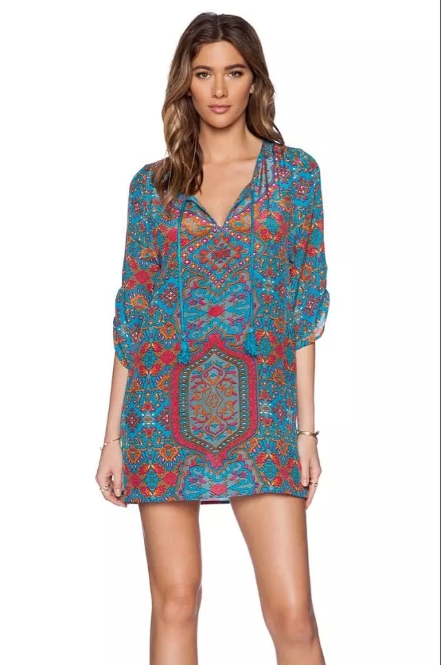 7ab4503a8 Get Quotations · 2015 summer women sexy half sleeves mini dress vestidos V  neck casual loose noble above knee