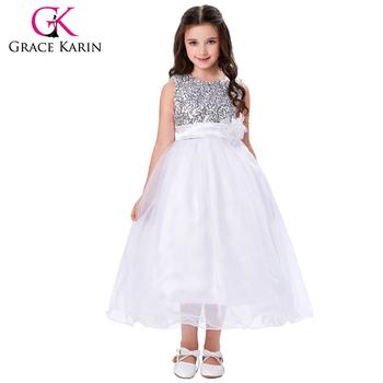 Grace Karin New Arrival Sleeveless Ball Gown Sequins Voile Flower
