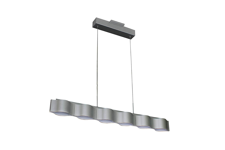 VONN VMC32100AL Modern LED Linear Chandelier Lighting with Adjustable Hanging Light, Silver