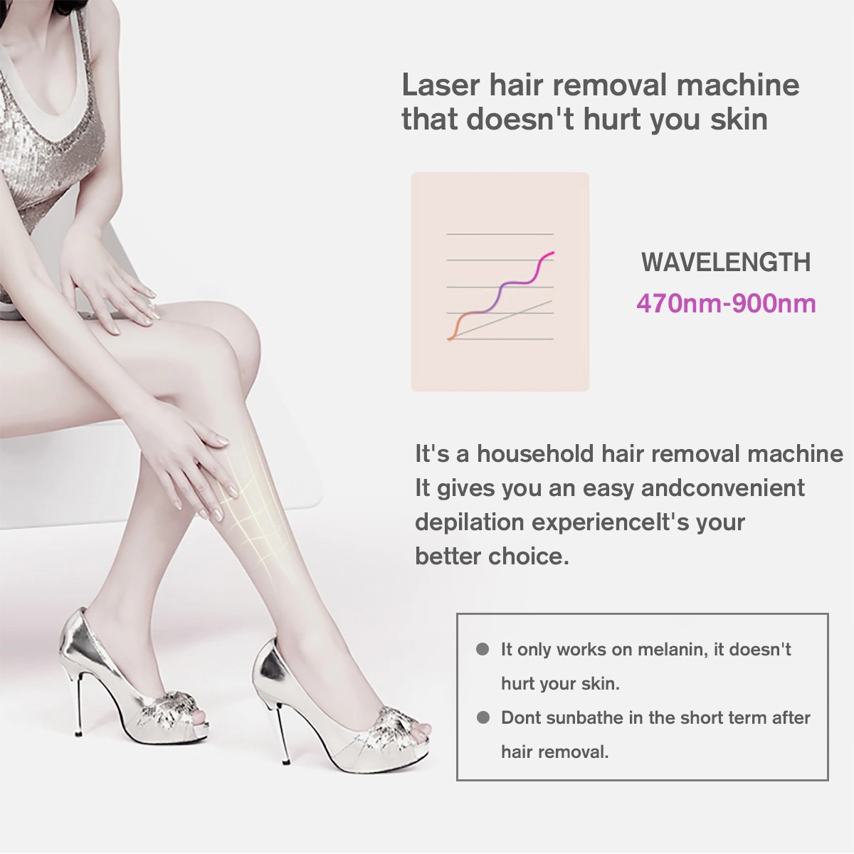 Electric hair remover laser hair removal machine mini ipl hair removal