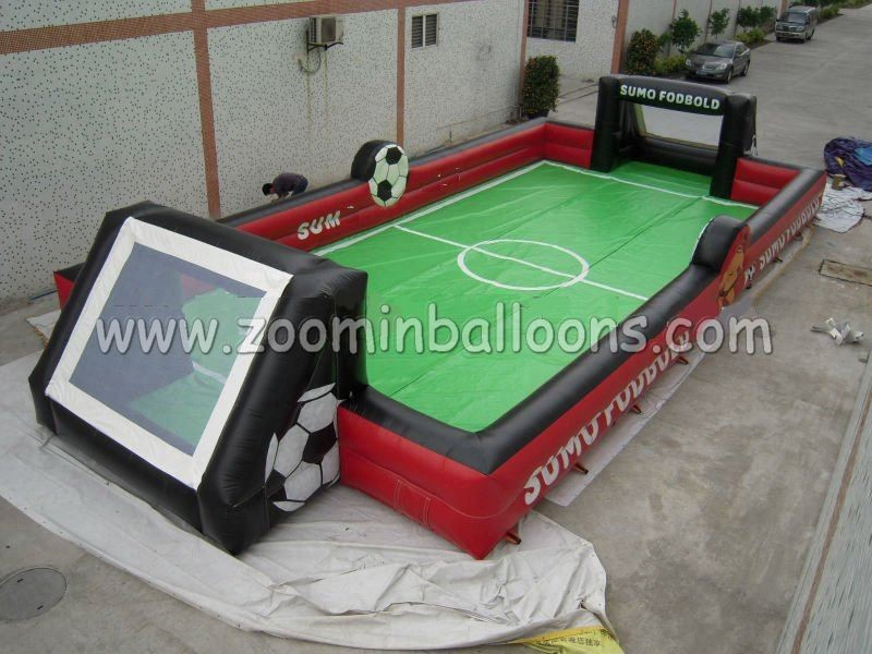 inflatable factory, inflatable football/soccer playground Z5035