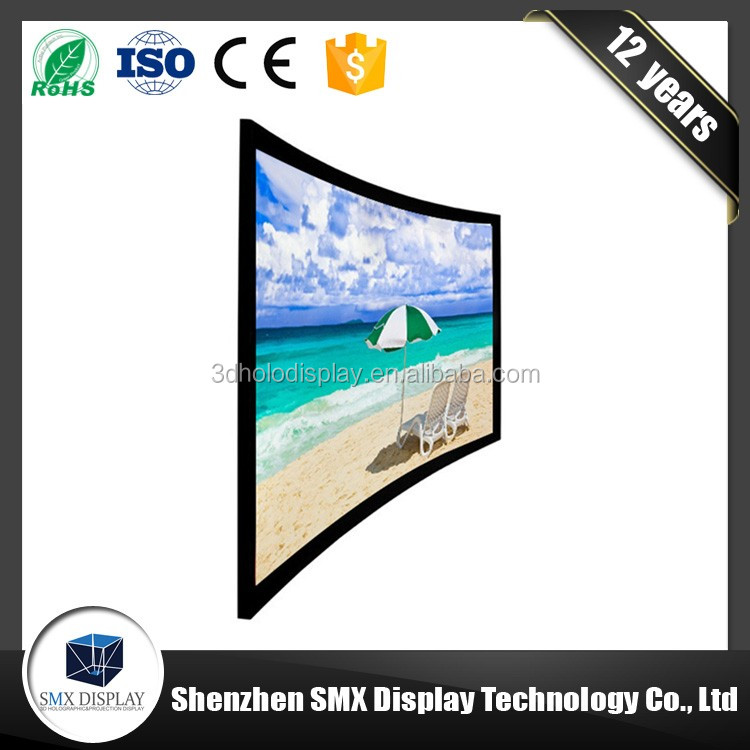 High quality 4K perfect flat surface ease of installation HD cinema fixed frame projector screen