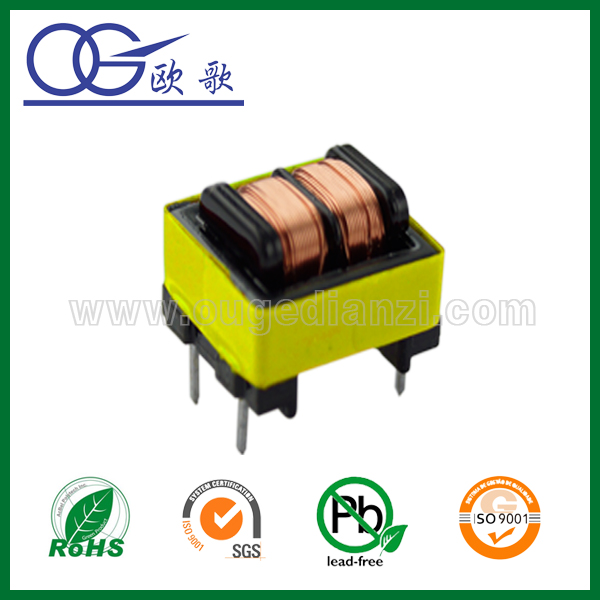 Mn-Zn PC40 ferrite core EE8.3 double slot transformer,voltage transformer for home