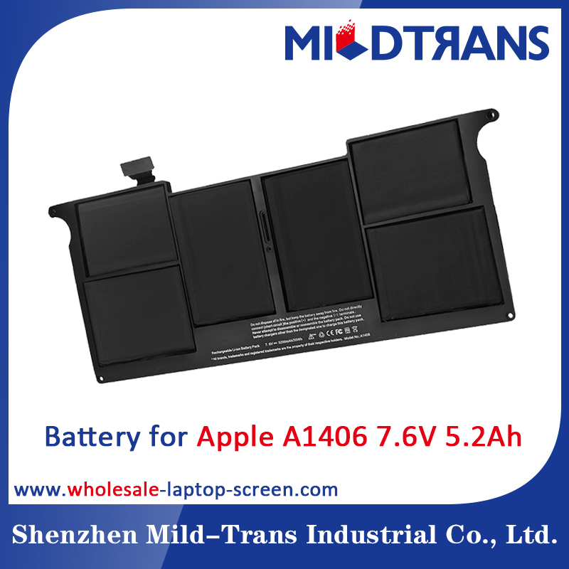 7.6V 5200mAh A1406 Battery for Apple laptop battery msds
