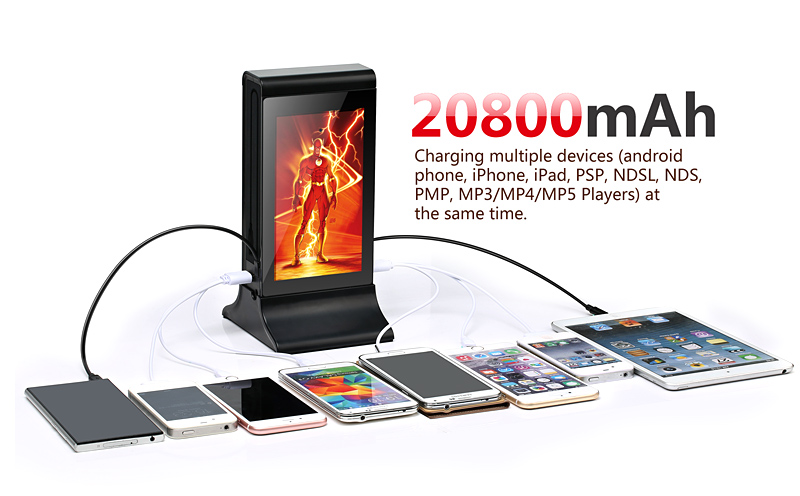 Shenzhen Digital Charging Station With Touch Screen Table Stand Menu  Advertising Player