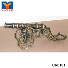 DECORATIVE METAL MILITARY CANNON