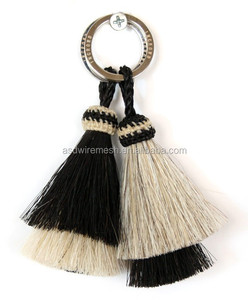 Western Decor Cowboy and Cowgirl HAT BAND Blk/Red/Wht Woven Horsehair band With Tass sunny color tassel All colors of horse hair