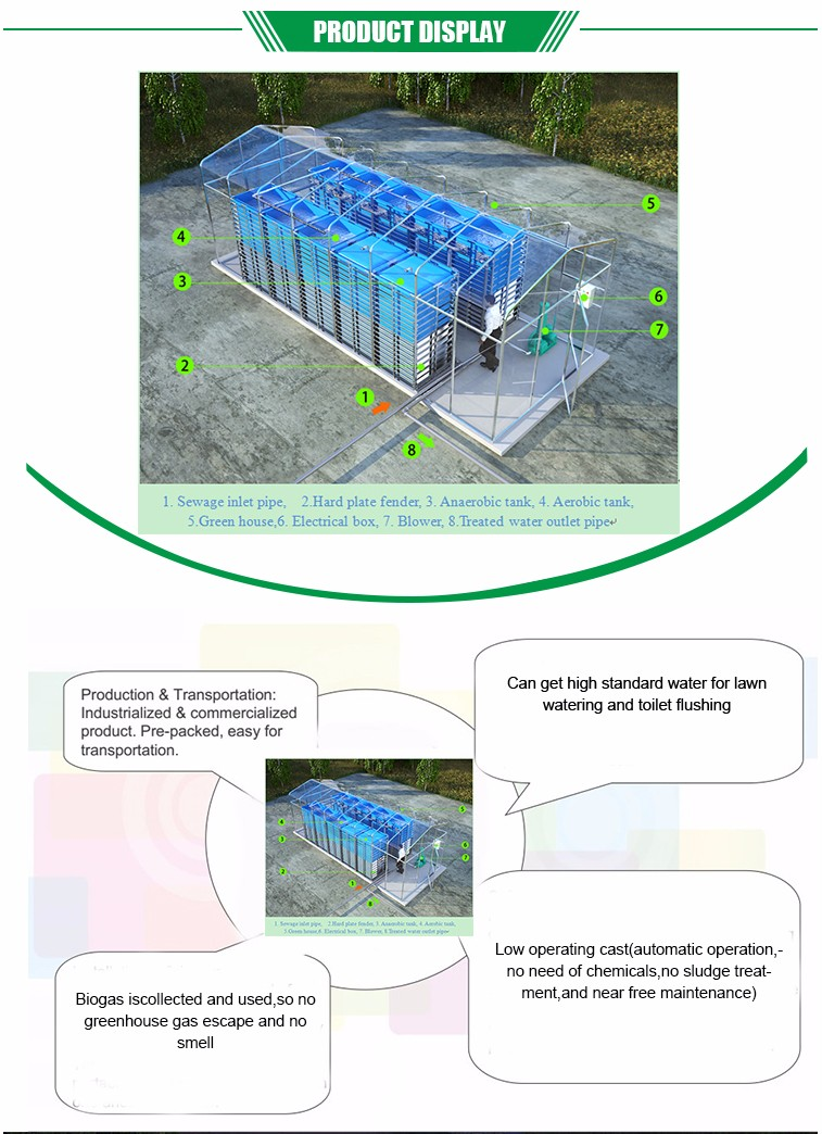 Newly Designed Household Sewage Treatment Plant