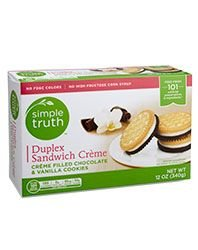 Simple Truth Organic Duplex Sandwich Cookies No High Frutrose Corn Syrup Creme Filled 12 Oz. Box (Pack of 2)