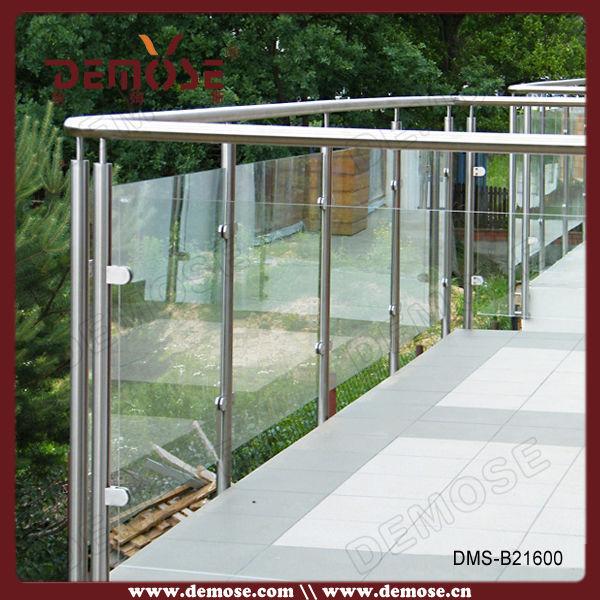 Tempered deck balcony railing design glass   buy balcony railing ...