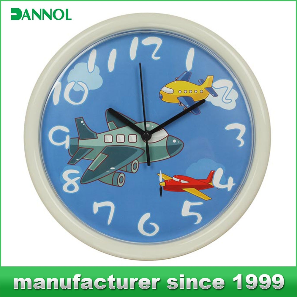Kids Plastice Wall Clock / Cheap Gifts for Children / Promotional Gift