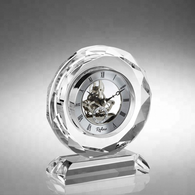 Wholesale Online Business Gifts Office Desk Crystal Smart Table Clock For Home Decor Wedding Souvenirs