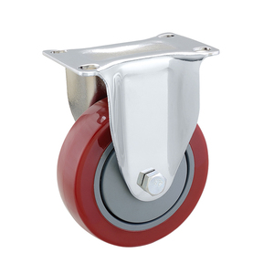 Zinc Plated Rigid Industrial 5 inch Caster Wheels, capacity 125kgs