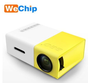 2018 Hot product LCD YG300 Mini projector 1080P digital protable Mini projector YG300 for Home