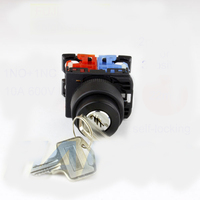 dia.22mm reset or lock 2 or 3 position key lock selector push button switch