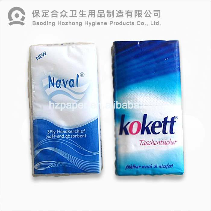 decorative printed best pocket tissues pocket pack facial tissue