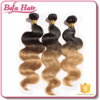 100 human ombre hair braiding hair, human hair weave ombre hair extension, virgin ombre hair weaves