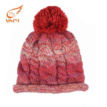 Wholesale Cheap Girls Fancy Winter Hats Knitting Beanie Winter Knit ... 502d9b9f2d4