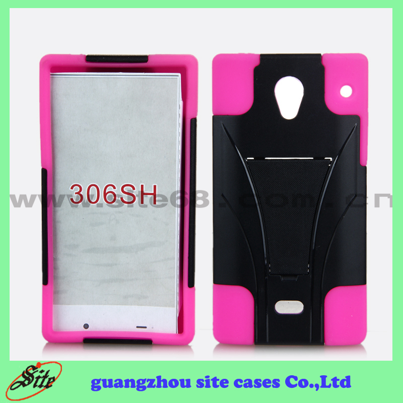 Wholesale Accessories for SH306 ,High Quality for Aquos Crystal 306SH Case with Holder