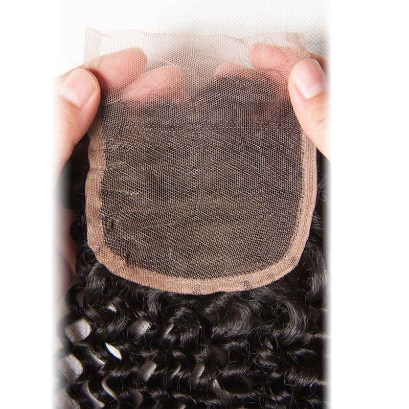 2017 Hot Aliexpress Hair Lace Closure Jerry Curl Kinky Curly Can Part Anywhere