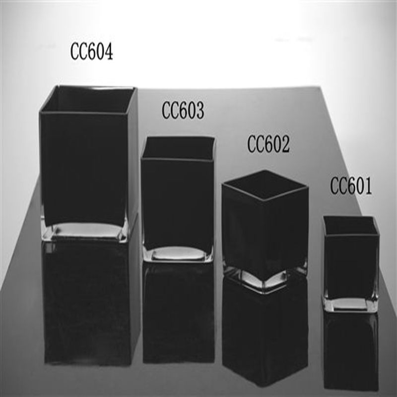 Black Square Glass Vase Black Square Glass Vase Suppliers And
