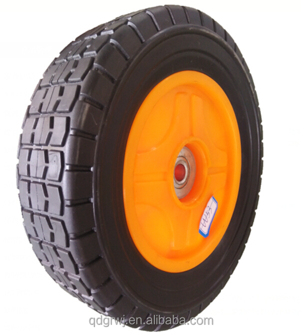 8 inch semi pneumatic wheel toy plastic wagon wheel with bearing