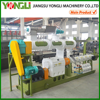 CE approved high tech double/twin screw fish feed extruder machine price